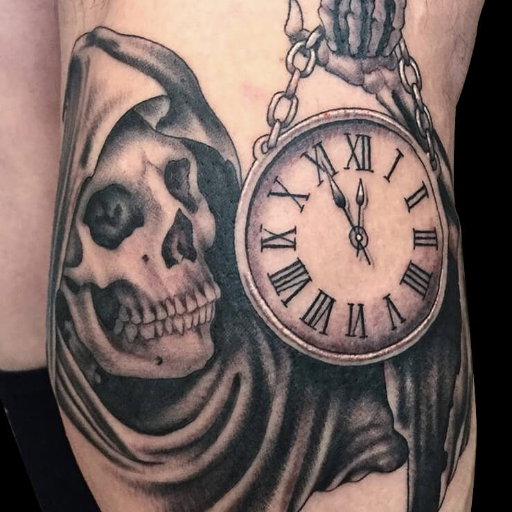 Cameron Randall black and grey clock death