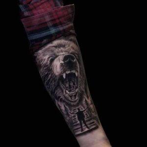 Mad Science Tattoo Den Haag Izaak Nobel Nine realisme beer