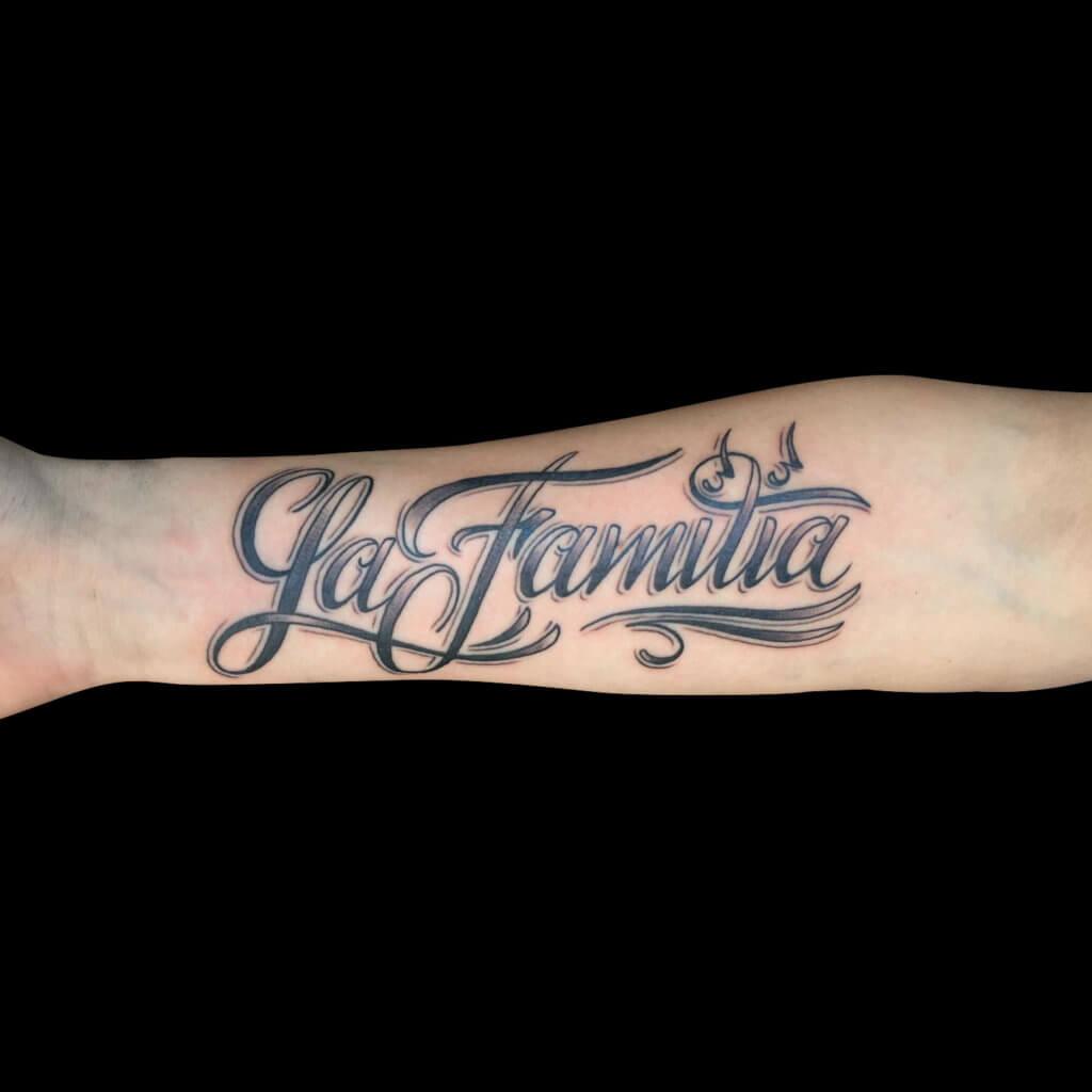 Cameron Randall La familie arm tattoo